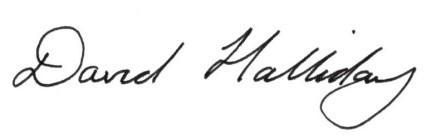 David Halliday signature